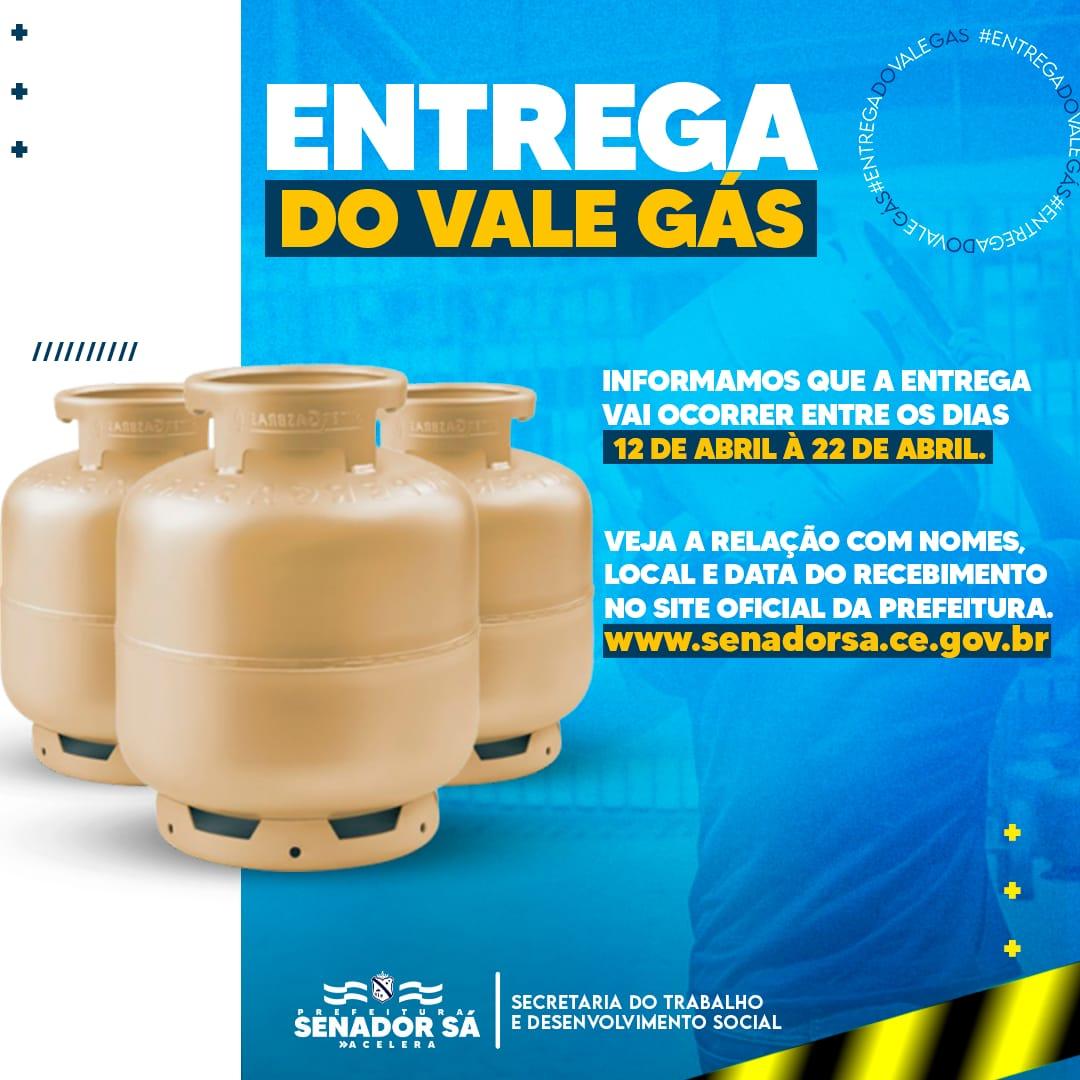 Relação do Recebimento Do Vale Gás Com Data e Local de Entrega.